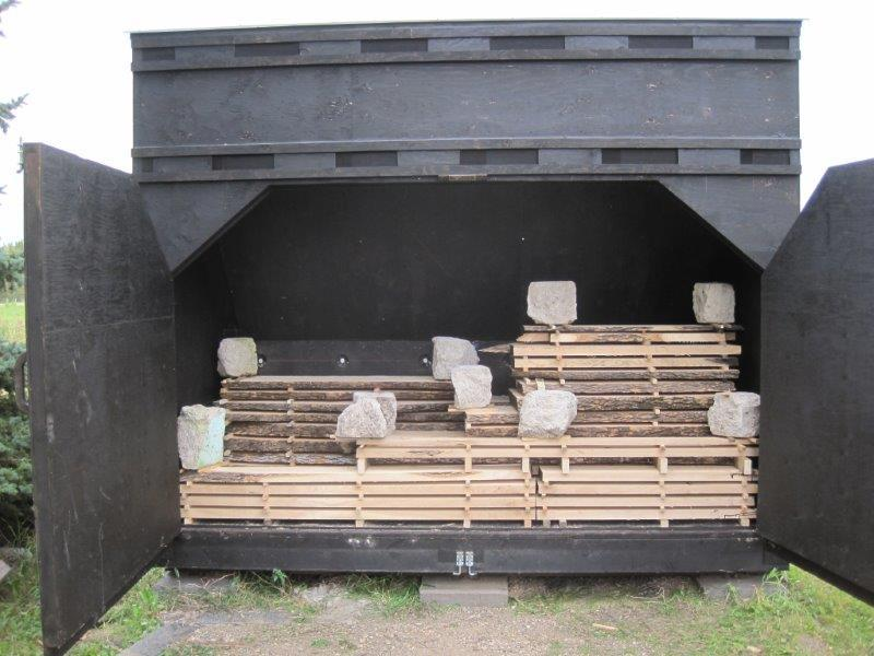 Finishing The Vents On A Solar Wood Drying Kiln
