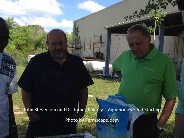 John Stevenson and Dr. James Rakocy – Aquaponics Seed Starting Photo by Permscape.com
