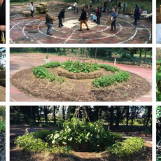 Mandala educational garden for therapeutic use (France)