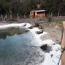 Yağmur suyu toplama göleti.